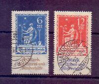 Dt. Reich 1922 - Altershilfe - MiNr. 233/234 gestempelt - Michel 60,00 € (875)
