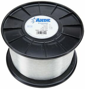 Ande Monofilament Line (Clear, 15 -Pounds Test, 1/4# Spool)