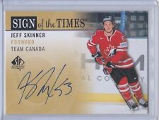 TEAM CANADA 2012-13 SP AUTHENTIC JEFF SKINNER SIGN OF THE TIMES AUTOGRAPH