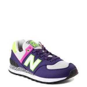 New Womens New Balance 574 Athletic Shoe Purple Neon Multicolor
