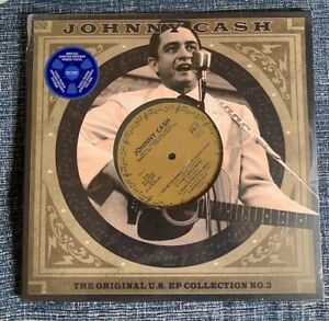 "JOHNNY CASH - ORIGINAL US EP COLLECTION NO 3 - WHITE VINYL 10"" - NEW !"