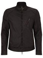 belstaff Mens H Racer Biker jacket Black Rubberised Coat 52 42 L Jason Bourne
