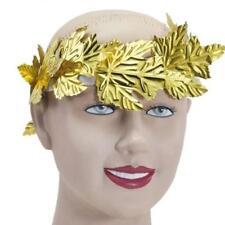 Diosa griega hoja corona de laurel corona Toga traje de fantasía de oro