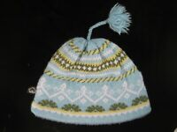 Vintage Turtle Fur Wool Winter Cap Beanie Hat w/Adjustable Tassel - One Size USA