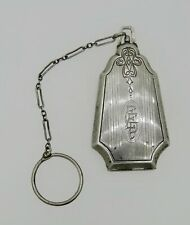 "Purse Depression Era Circa ""1900"" Antique Ladies Chatelaine Sterling Silver Coin"