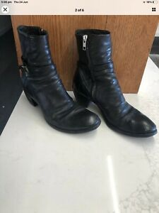 Officine Creative Black Leather Ankle Boots Size 38 Zomp