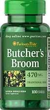 Butcher's Broom 470 mg x 100 Capsules ** AMAZING PRICE **