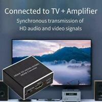 HDMI zu 4K HDMI SPDIF 3.5mm Audio Video Konverter Extraktor 340MHz Splitter O7A9