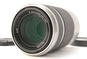 """"""" Exc +3 """" Sony SEL55210 55-210mm f/4.5-6.3 Silver E Mount Lens from Japan #983"""