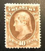 US O77 10c Treasury Department Official Unused OG H SCV $240 Low Price Stamp