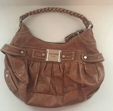 Authentic Guess Cognac Brown Hobo Satchel Tote Shoulder Bag Handbag
