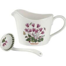 Portmeirion Botanic Garden cyclamen sauce/gravy jug & mini ladle