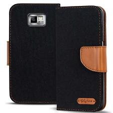 Samsung Galaxy S2 Plus Phone PU Leather Magnetic Flip Case Wallet Denim Cover