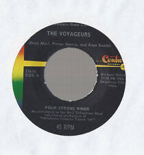 THE VOYAGEURS Four Strong Winds PRIVATE 60s FOLK SSW  45 RECORD IAN SYLVIA