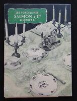 Ancien catalogue porcelaine SALMON & Cie Limoges Porzellan porcelain