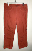 Kuhl Red Cargo Pants Straight Leg Stretch Outdoor Hiking Womens 10 x 32