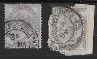 SG172-1d.Lilac(2)-Used In Boer War,S.Africa With Field Post Office Pmks. Ref:132