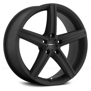 Vision 469 BOOST Wheels 17x7 (38, 5x120.65, 73.1) Black Rims Set of 4