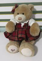 Brooks Brothers Tan Bear Plaid Dress Plush Soft Toy Gund Stuffed Teddy 40CM 2014