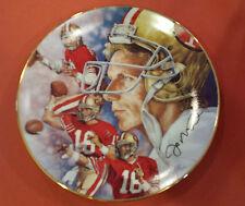 Joe Montana 1991 Collector Plate by Gartlan Limited Edition