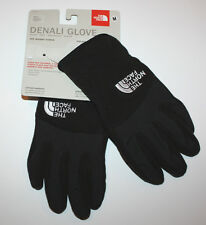 NWT Girls The North Face Black Denali Gloves Size M