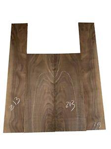 Guitar Back & Side Set Classical Figured Walnut Set AAAA Luthier Tonewood #213