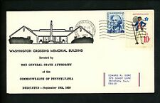US Postal History States Related Memorial Building 1979 Washington Crossing PA