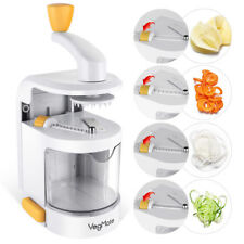 VegMate Vegetable Spiralizer Spiral Slicer Cutter with Built-in 4-in-1 Blades