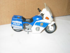 PLAYMOBIL  BLUE POLICE MOTORBIKE PROP STAND LUGGAGE  PLAY FIGURE ADD TO OTHER