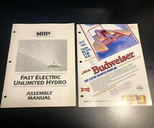 MRP Miss Budweiser Unlimited Hydroplane Pringles Manual Brochure Catalog RC Boat