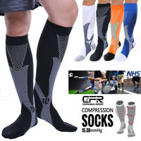 Copper Compression Socks 20-30mmHg Graduated Support Mens Womens Sport Medical