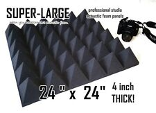 SUPER-LARGE 4 inch thick 24x24 pyramid Soundproofing Studio Foam Acoustic Panel