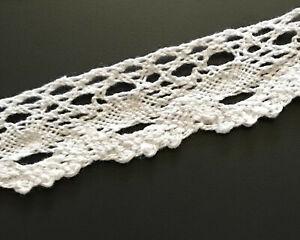 5 yds White Vintage Cotton Crochet Trim Lace Edge Trims Craft Sewing Edging