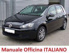 Volkswagen GOLF Sesta serie 6° 2008/2012 Manuale OFFICINA Riparazione ITALIANO