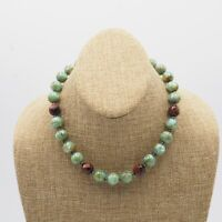 Estate Turquoise Dyed Mother Of Pearl Bead Necklace With Toggle Clasp