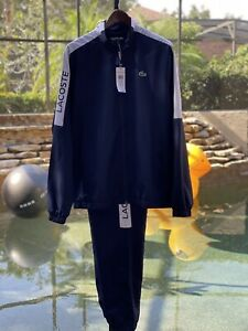 LACOSTE SPORT STAND UP COLLAR TRACKSUIT XL WH4857