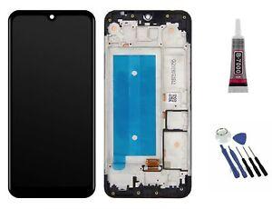 Für LG K40s Display LCD Bildschirm Glas mit Rahmen komplett Ersatzteil Front
