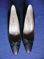 Rene Mancini Paris brown leather pumps size 39 made in Italy