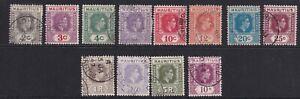 Mauritius KGVI 1938-51 set of 12 (p14) SG252/263 - fine used