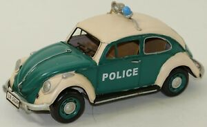 "13"" European 1967 Decorative Classical Beetle Police Car 1:12 Diecast Model Toy"