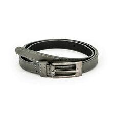 Brand New Stylish Ladies' Girls Women Thin Skinny  Belt in Grey - UK Seller