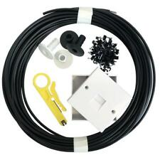 40m External Telephone Cable Extension Kit CW1308 2 Pair 2/3A Box Grommets Clip