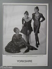 R&L Ex-Mag Advert: Clairemont Party Wear Yorkshire / Christian Lacroix Pret Port
