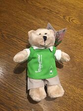 Starbucks 2017 THAILAND Mini Green Apron Bearista Bear Keychain / Ring -No card