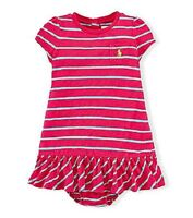 Ralph Lauren Polo Kids Baby Childrenswear Baby Girls' Striped Gauzy Dress NEW