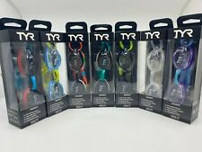 New - Tyr Velocity Adult Fit Swim Goggles Swimming Low Profile - Various Colors