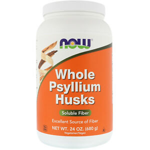 Now Foods Whole Psyllium Husks Gut Health Fiber 24 oz 68 Serves BOWEL REGULARITY