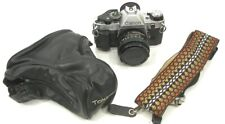 Canon AE-1 35mm Film Camera w/ 50mm 1:1.8 Lens w/Case and Shoulder Strap