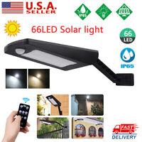 Outdoor 66 LED Solar Power Motion Sensor Light Yard Garden Street Wall Lamp RG