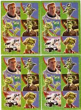 4 Sheets PLANET 51 Alien Stickers!